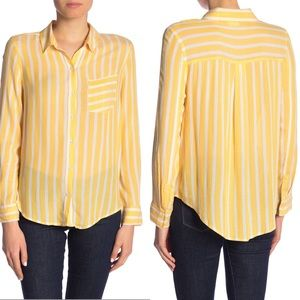 NWT Abound | Yellow & White Striped Button Up